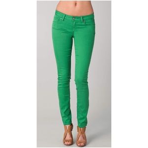 PAIGE green verdugo ultra skinny jeans
